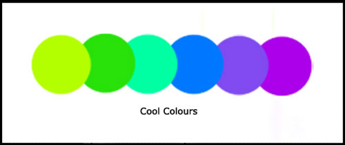 Example of cool colours