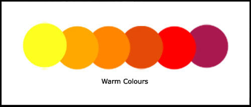 Example of warm colours