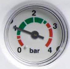 Pressure gauge on combination boiler