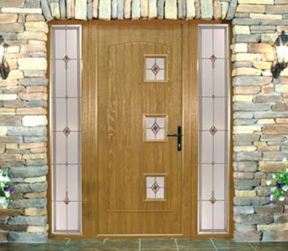 Oak finished composite door