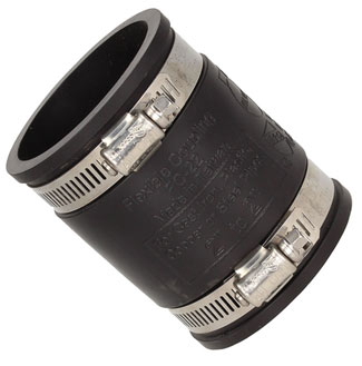 Straight flexible waste coupling