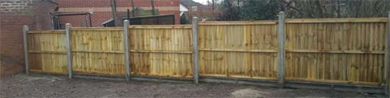 Completed run of fencing