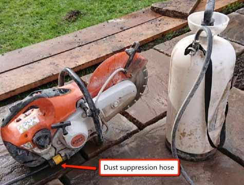 Petrol powered disc cutter