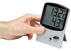 Hygrometer or home humidity monitor