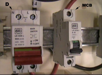 installing a consumer unit instructions on wiring a consumer consumer unit mcb and main double pole isolation switch