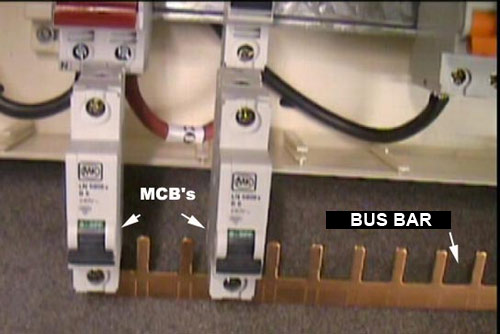 Consumer Unit with MCB's and Buzz Bar