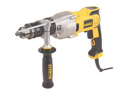 Corded power drill with safety clutch