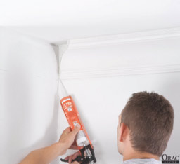 Apply decorators caulk to the mitre joints