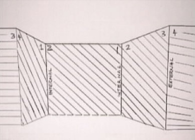 Coving cutting plan for room with numbered corners