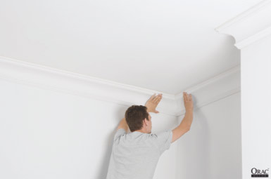 Sticking up coving