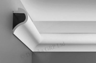 Wave Uplighter Cornice Profile Detail