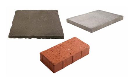 Paving slabs and bricks make good paths