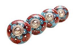 Patterned knobs for kitchen drawers