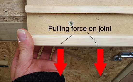 Pulling force on joint