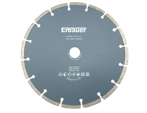 Diamond cutting disc for use with an angle grinder