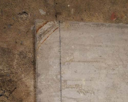 Slab marked out for cutting