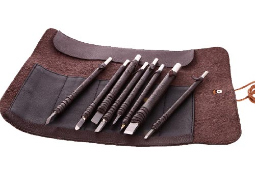 Set of stone carving chisels