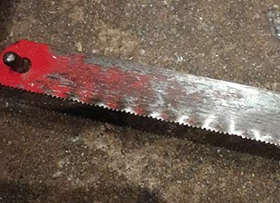 Fine toothed hacksaw blade