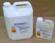 Use salt neutraliser to remove any salts on your wall