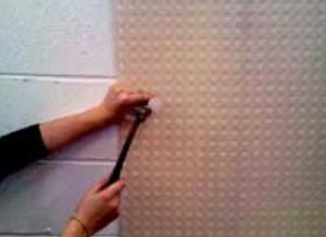 Apply a mesh membrane to your wall to be sure that salts will not reappear