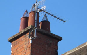 Open chimney pots may be allowing rainwater to enter your chimney