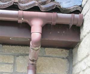 Inspect your guttering for cracks and faults