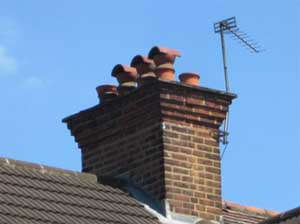 Keep chimney pots vented to prevent damp