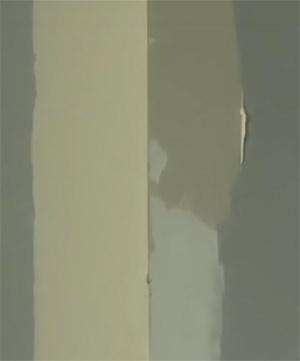 Applying third and final external corner filler coat