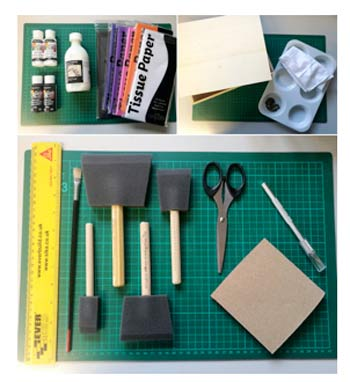 Craft kit for decoupage
