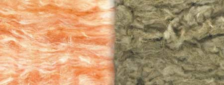 Glass fibre vs rock wool