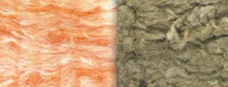 Glass fibre vs rock wool