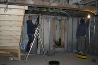 Installing first fix electrics, plumbing, dry walling, ceilings and also insulation