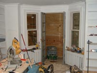 Complete second fix electrics, plumbing, skirting and architraves