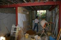 Installing structural steel spreader plates
