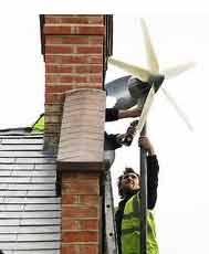 Building mounted domestic wind turbine