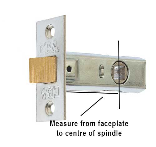 Measureing latch backset