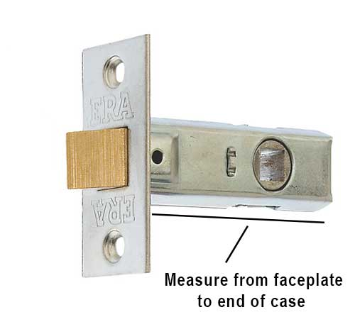 Measure length of latch case