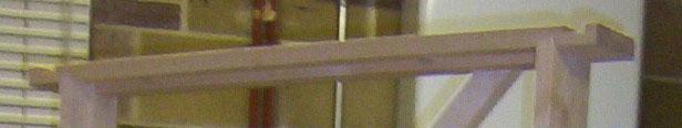 Head and side jambs of door frame