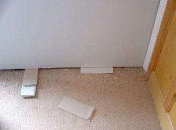 Gap between floor and plasterboard