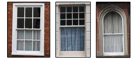3 different types of sash window
