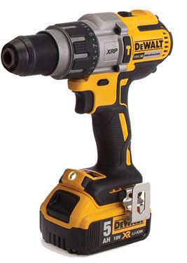 An 18v cordless drill/driver