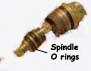 O-rings on tap valve