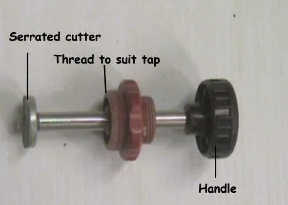Tap valve seat grinding tool