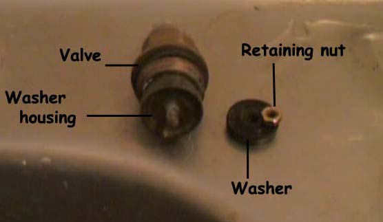 Individual elements that make up the tap valve