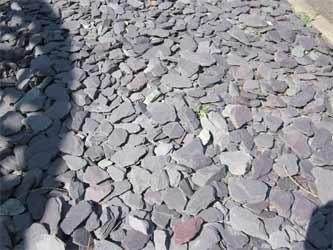 Loose slate driveway