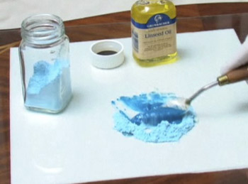 making paint by hand