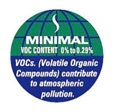 VOC paint label
