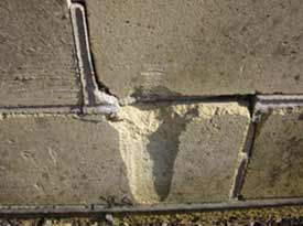 Damaged to walls and pointing can allow damp to penetrate