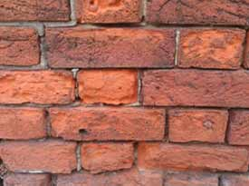 Damaged  Brickwork caused by weathering