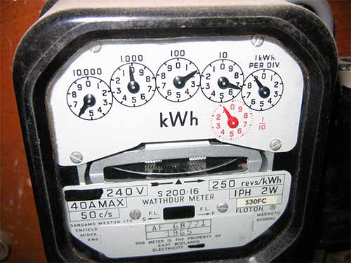 Older style dial electric meter